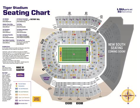 how many seats in tiger stadium 2014 tiger stadium diagram lsusports net the official