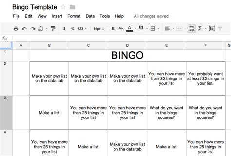 bingo sheet template bingo template tech