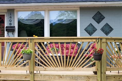 Kitchen Cabinets Greensboro Nc by Make Your Deck Unique With A Sunburst Deck Railing Hometalk