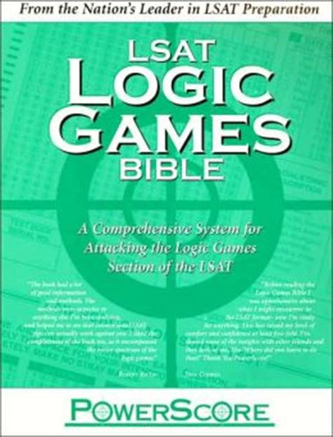 what are the sections of the lsat powerscore lsat logic games bible a comprehensive system