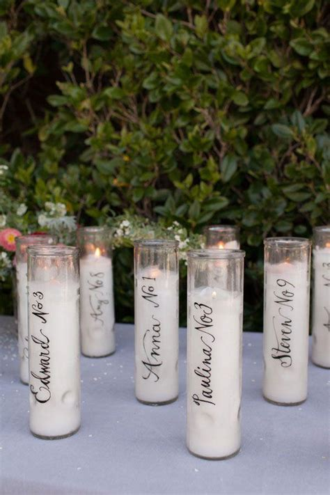 decor calligraphy candle place cards 2331404 weddbook