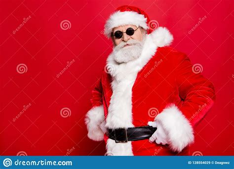 bad brutal santa claus discontentedly reads letter   wishes   background