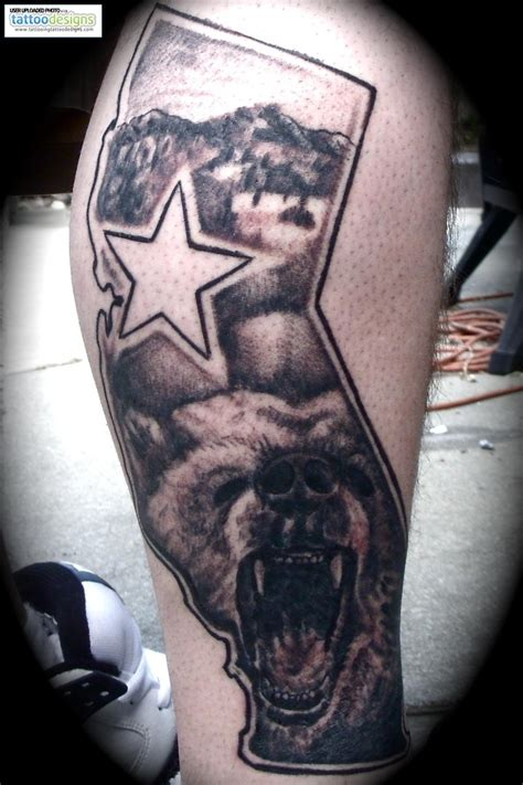 cali grown tattoo designs california state tattoos california flag