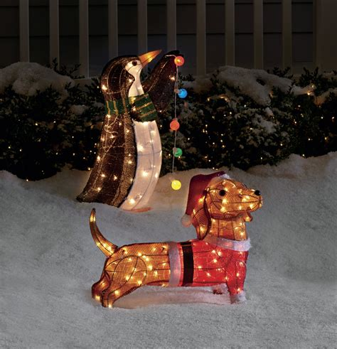 26 quot santa daschund decoration with 100 lights kmart