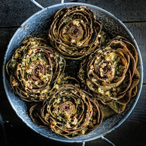 Breadcrumb Gift Cards - stuffed artichokes with spicy herbed bread crumbs williams sonoma