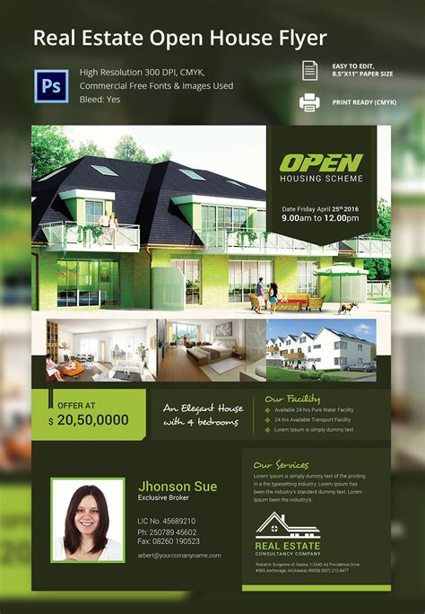 free open house flyer template open house flyer template 30 free psd format