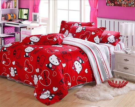hello kitty bed sets cute hello kitty bedding sets for girls