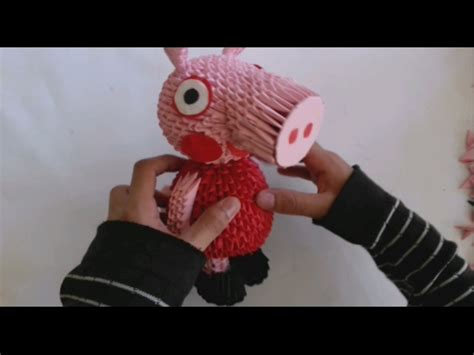 origami 3d pig tutorial full download 3d origami pig