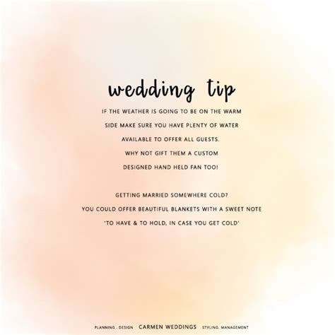wedding tips wedding tip looking after your guests weddings