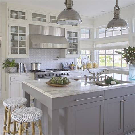 grey and white kitchen ideas grey kitchen white island decorating ideas beautiful