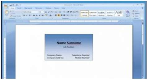 microsoft word 2007 business card template explain microsoft word 2007 business card template