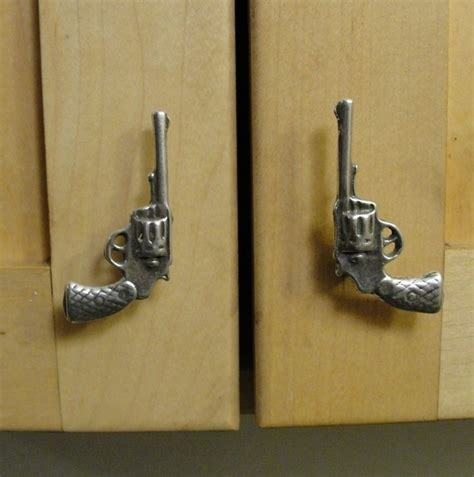 gun door handle gun drawer pull pistol cabinet hardware for the home