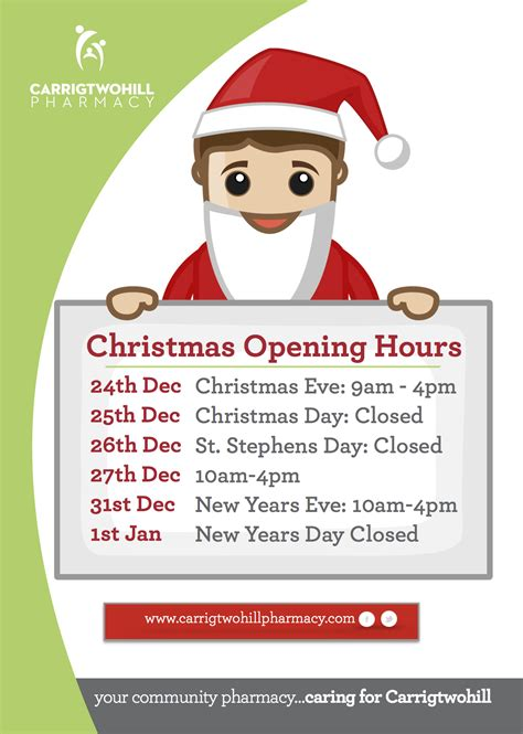 drugs hours opening hours 2014