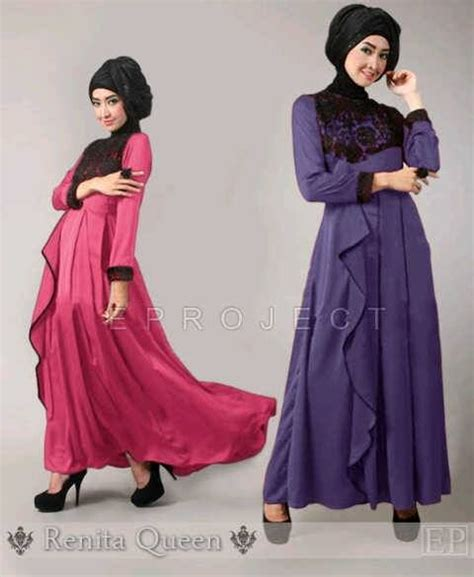 Dress Maxi Wanita Muslim Brokat Pesta Maxy Simple 173 best images about gamis on models satin and modern