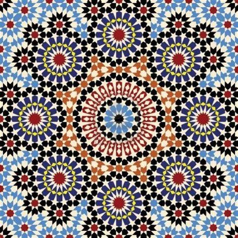 Moroccan Tile by Moroccan Tile Pattern Geometric Print Pinterest