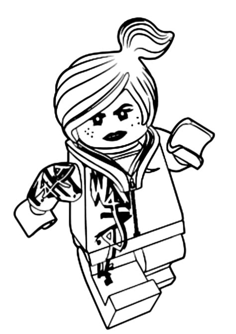 lego wyldstyle coloring pages the lego movie la coraggiosa lucy wildstyle