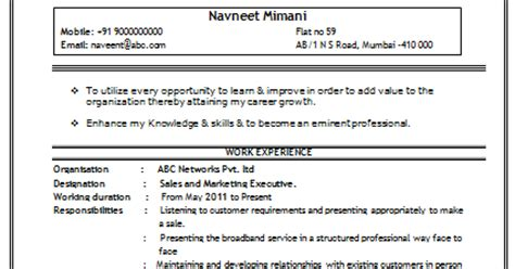sle professional resume for freshers 10000 cv and resume sles with free sales