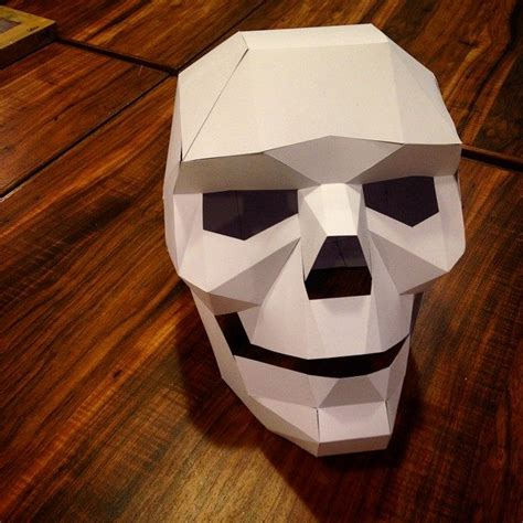 How To Make A 3d Mask Out Of Paper - craft mnl 187 cardboard skull mask october 26