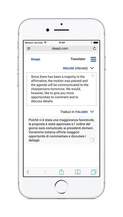 traduttore mobile deepl il traduttore sfrutta l intelligenza
