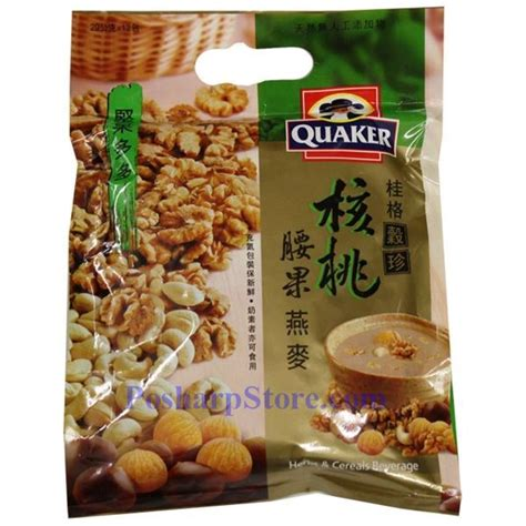 Quaker Herbs Beverage quaker instant herbal cereal with cashew and walnuts 12 3 oz