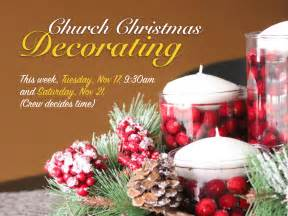 church christmas decorating south calgary community church