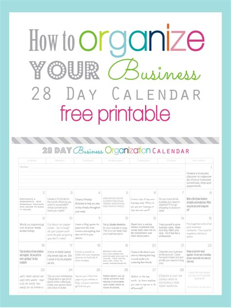 organize day clean life and home how to organize your business in 28