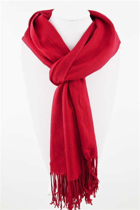 solid color woven pashmina scarf scarves