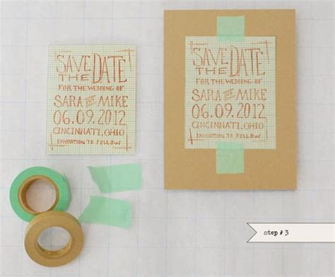 Handmade Save The Date - save the date cards for your wedding 40 beautiful ideas