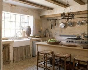 No Cabinet Kitchen by From Purdue To Provence Kitchen Inspiration Rustic Yet