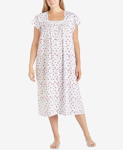 cotton knit nightgowns plus size eileen west plus size printed cotton knit ballet length