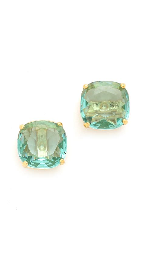 square earrings kate spade new york small square stud earrings blue