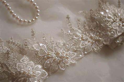 beaded lace trim ivory pearl beaded lace trim ivory alencon lace trim