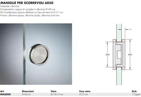 maniglie per porte in vetro maniglia mal6050 174 tonda 60 incasso alluminio per porte in