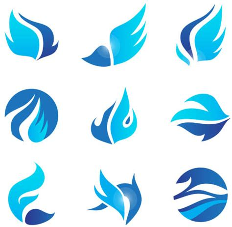 blue pattern logo logo design vector bing images