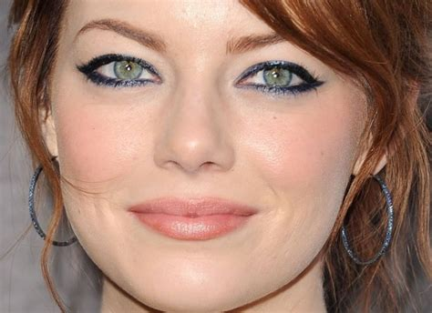 emma stone big eyes beauty trend color eyeliner