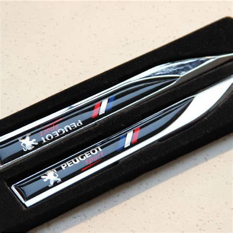 Metal Car Covers Automobiles For Peugeot 3d Metal Car Stickers Flag