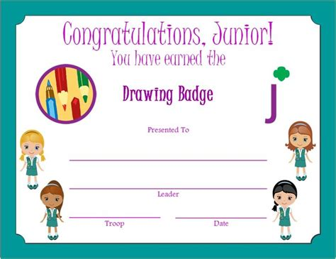 Junior Scout Drawing Badge