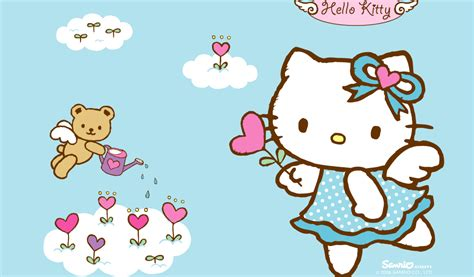 hello kitty wallpaper biru cute wallpapers of hello kitty wallpaper cave