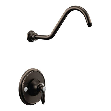 Moen Rubbed Bronze Shower by Moen Weymouth Posi Temp Shower Only Trim Kit In Rubbed