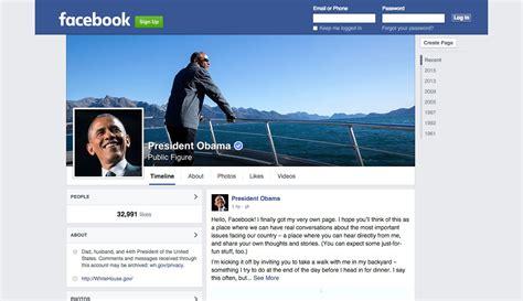 fb page president barack obama joins facebook fortune