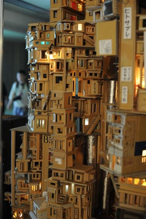 40 Incredible Examples Of Cardboard City Art   Bored Art