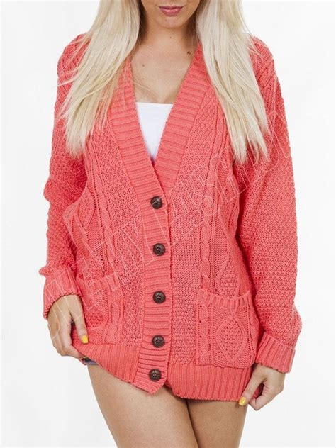 cable knit sweater onesie new womens cable knitted 5 button baggy boyfriend acrylic