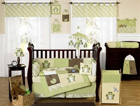 green and yellow crib bedding yellow and green frog baby bedding 9pc crib set for