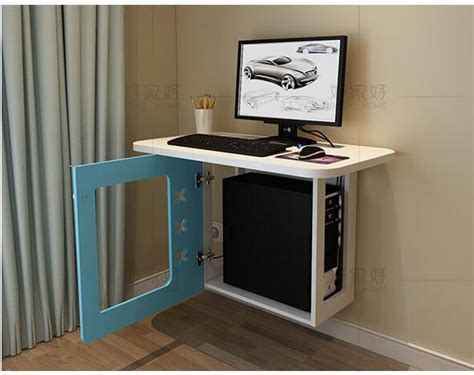 space saving computer desk small family model bedroom wall computer desk hanging