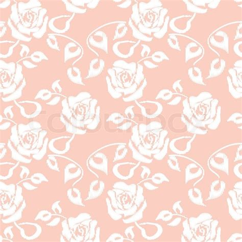 seamless pattern pink free white roses seamless pattern on pink background stock