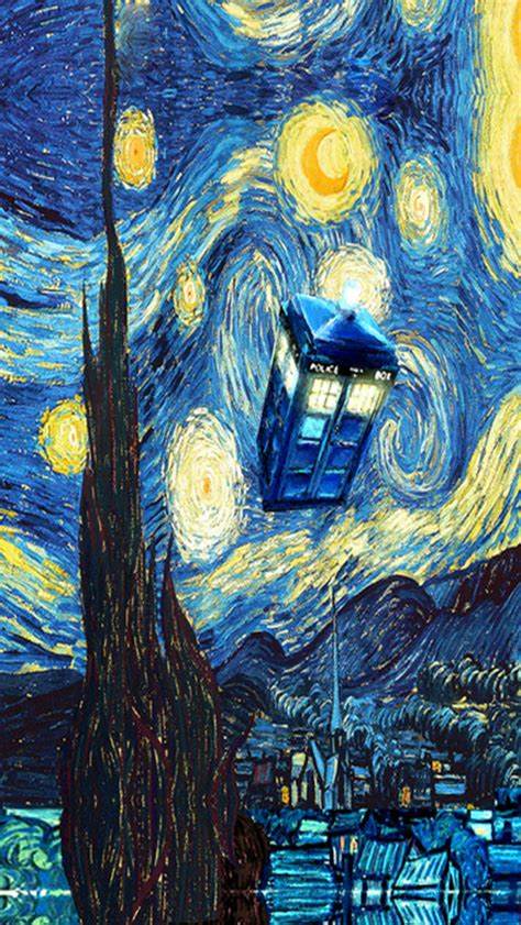 iphone wallpaper hd doctor who starry night iphone wallpaper wallpapersafari
