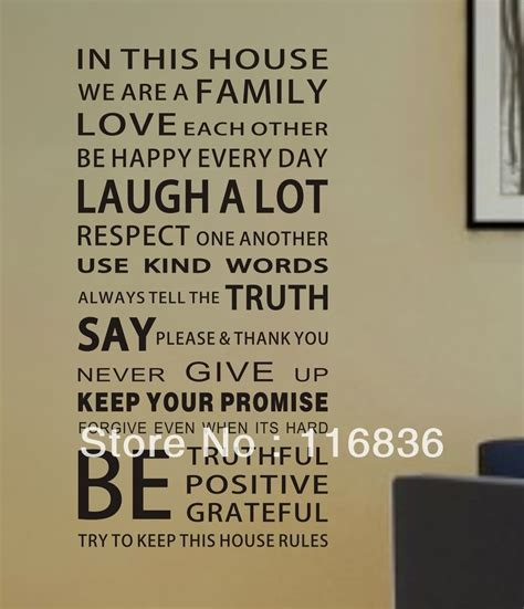 in this house wall sticker quotes about respecting one another quotesgram
