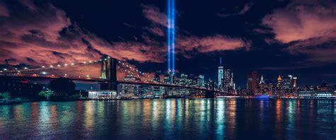 cityscape horizon  york city night night sky city