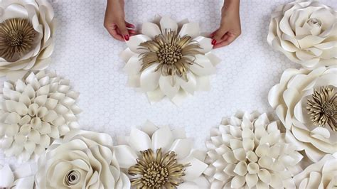 paper flower tutorial template diy paper flower tutorial my wedding backdrop flowers
