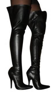 erogance faux leather ladies black stiletto high heel over